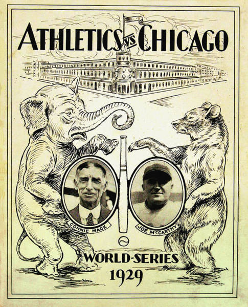 Philly Digital Art - Athletics Vs Chicago 1929 World Series by Bill Cannon