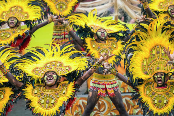Western Costume Photograph - Ati Warriors Performing At Dinagyang by Jason Langley