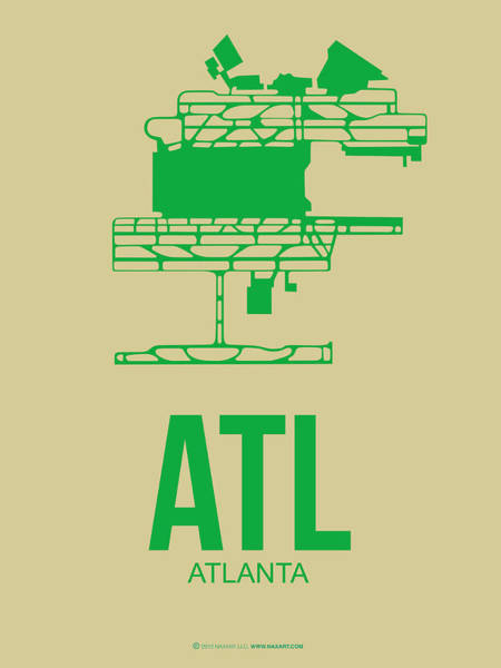 Wall Art - Digital Art - Atl Atlanta Airport Poster 1 by Naxart Studio