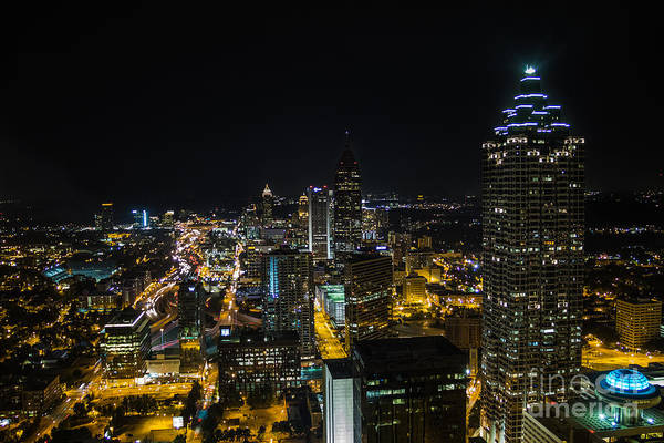 Atlanta City Lights Art Print