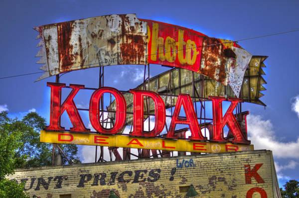Photograph - Atlanta Classic Kodak Sign 2 Ponce De Leon Signage Atlanta Georgia Art by Reid Callaway