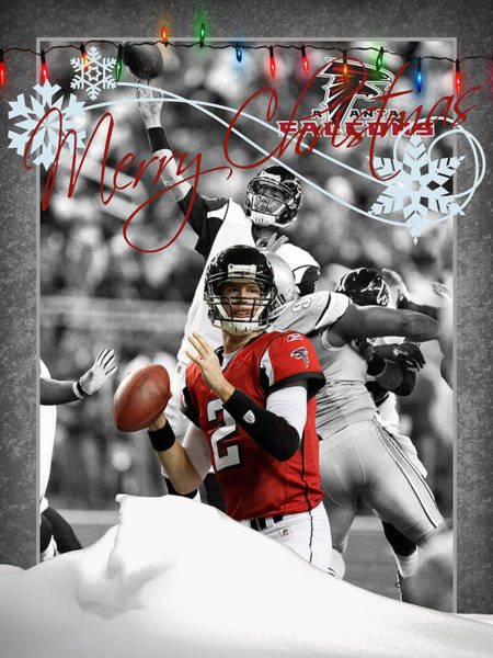 Matt Ryan Photograph - Atlanta Falcons Christmas Card by Joe Hamilton