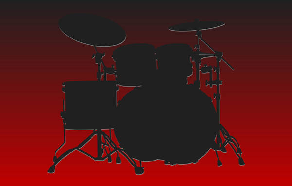 Drum Player Wall Art - Photograph - Atlanta Falcons Drum Set by Joe Hamilton