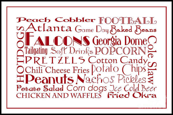 Digital Art - Atlanta Falcons Game Day Food 3 by Andee Design