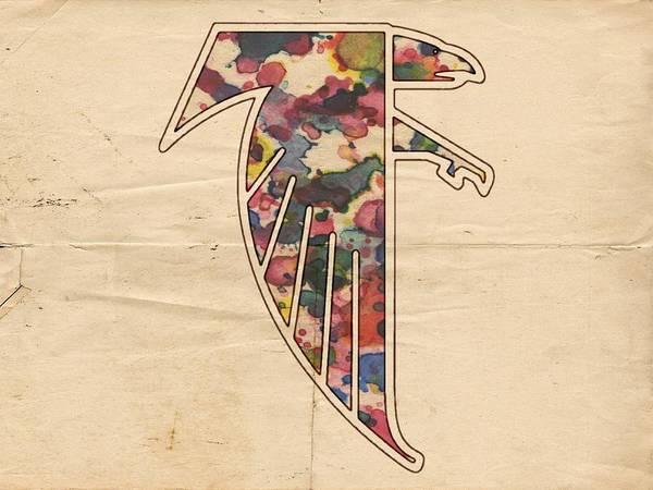Painting - Atlanta Falcons Logo Vintage by Florian Rodarte
