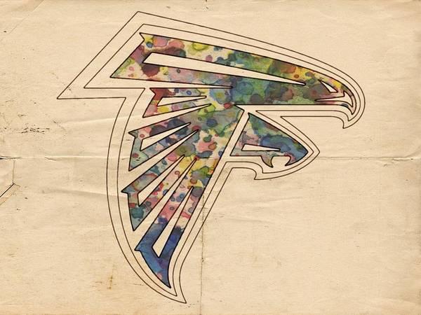 Painting - Atlanta Falcons Poster Vintage by Florian Rodarte