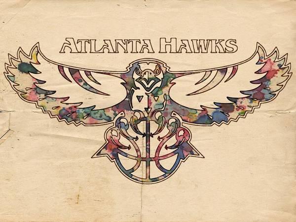 Slamdunk Wall Art - Painting - Atlanta Hawks Poster Vintage by Florian Rodarte