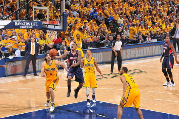 Photograph - Atlanta Hawks V Indiana Pacers- Game One by Jesse D. Garrabrant