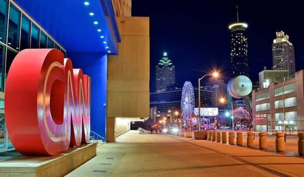 Wall Art - Photograph - Atlanta Outside Cnn by Frozen in Time Fine Art Photography