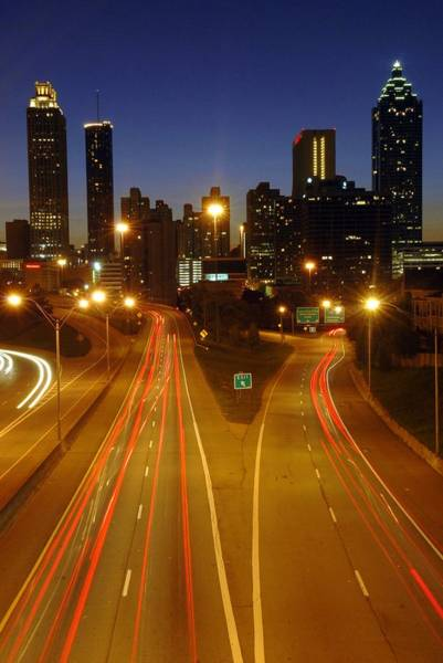 Hotlanta Photograph - Atlanta Skyline At Night by Willie Harper