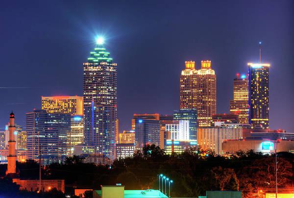 Georgia Photograph - Atlanta Skyscrapers by Sean Pavone
