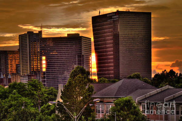 Georgia Power Company Photograph - Georgia Power Building Sunset by Reid Callaway
