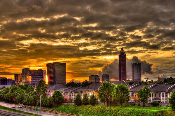 Georgia Power Company Photograph - Atlanta Sunset by Reid Callaway