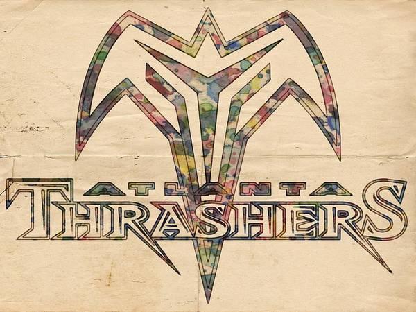 Painting - Atlanta Thrashers Vintage Poster by Florian Rodarte