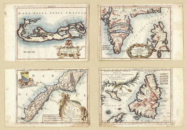 1600s Wall Art - Photograph - Atlantic And Arctic Islands by Library Of Congress, Geography And Map Division