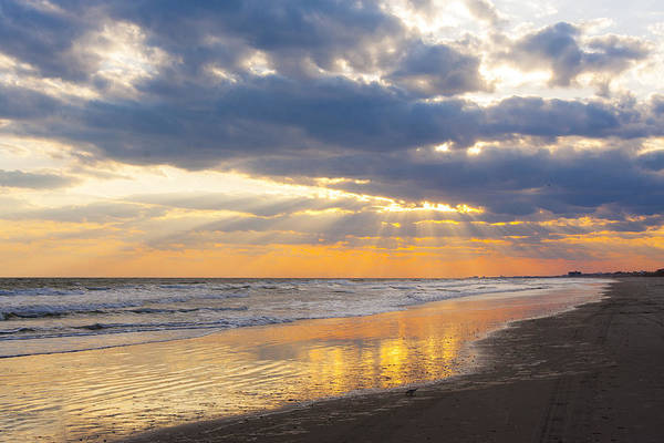 Photograph - Atlantic Beach Sunset by Bob Decker