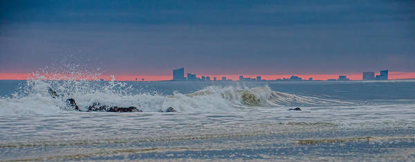 Photograph - Atlantic City At Sunset From Long Beach Island by Beth Sawickie