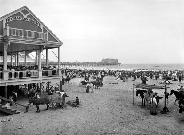 Photograph - Atlantic City Beach, C1900 by Granger