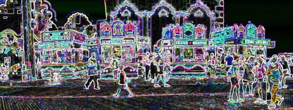 Superficial Digital Art - Atlantic City Neon by David Schneider