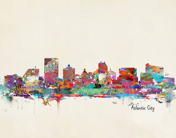 Atlantic Painting - Atlantic City New Jersey by Bri Buckley