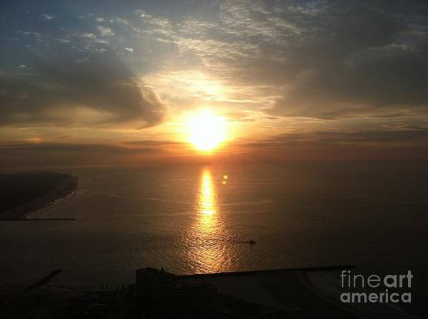 Silhoutte Photograph - Atlantic City Sunset by John Telfer