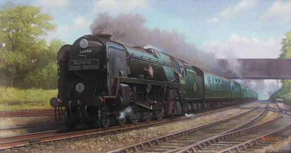 Wall Art - Painting - Atlantic Coast Express by Mike Jeffries