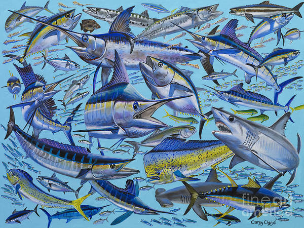 Reel Painting - Atlantic Gamefish Off008 by Carey Chen