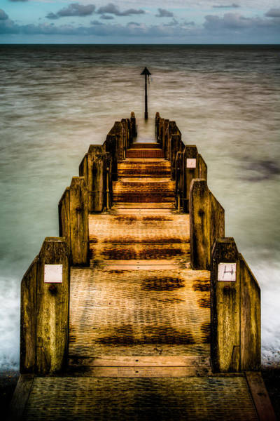 Photograph - Atlantic Ocean Engulfing A Walkway At Aberystwyth Uk by Dennis Dame
