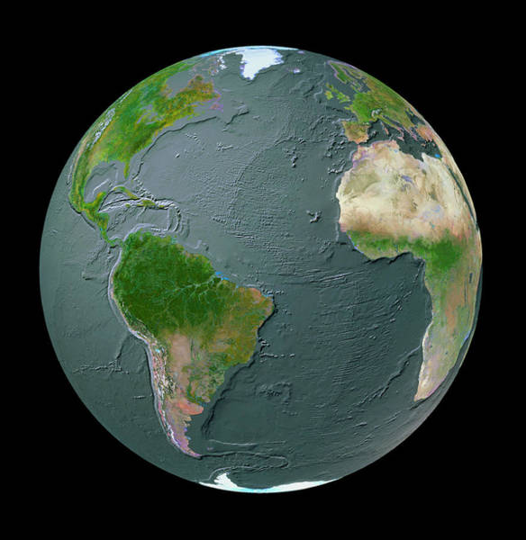 Mid-atlantic Photograph - Atlantic Ocean Geosphere With Bathymetry by Copyright Tom Van Sant/geosphere Project, Santa Monica/science Photo Library
