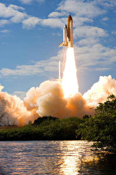Space Shuttle Photograph - Atlantis Lift Off by Ricky Barnard
