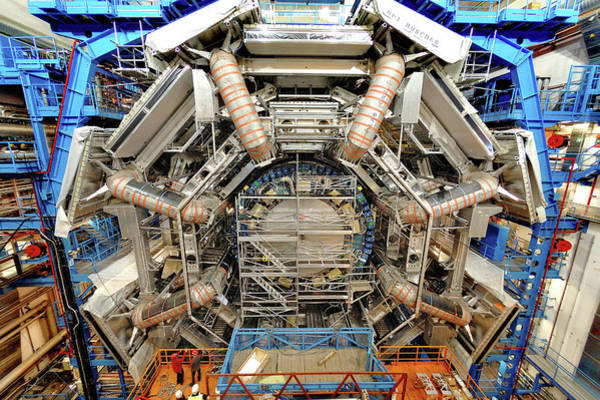 Wall Art - Photograph - Atlas Detector Construction by Serge Bellegarde, Cern/science Photo Library
