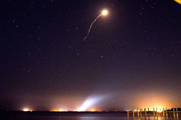 Photograph - Atlas V Launch From Nyny by AnnaJo Vahle