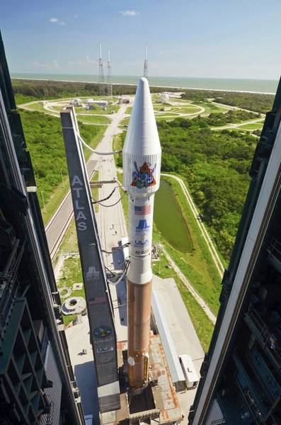 2010s Wall Art - Photograph - Atlas V Rocket On Launch Pad by National Reconnaissance Office