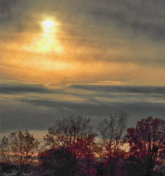 Photograph - Atmospheric Autumn Sunset by Danielle  Parent