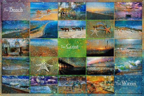 Wall Art - Mixed Media - Atmospheric Beaches   by Betsy Knapp