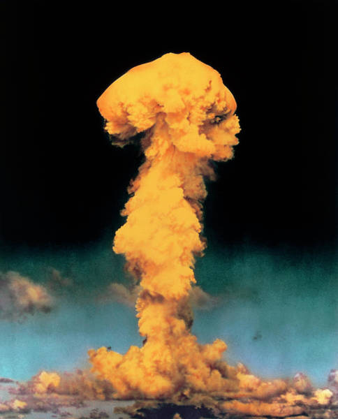 Crossroads Photograph - Atomic Bomb Explosion by Science Photo Library