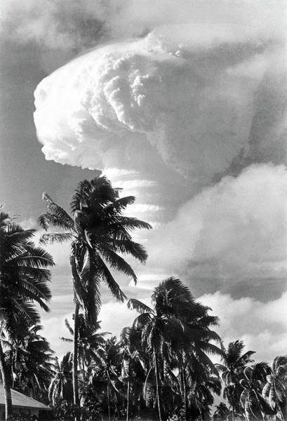 Nuclear Bomb Wall Art - Photograph - Atomic Bomb Test by Us Department Of Energy/science Photo Library