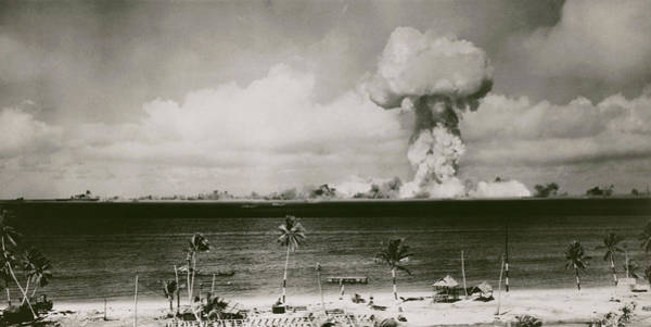 Crossroads Photograph - Atomic Explosion At Bikini Atoll by Us National Archives/science Photo Library
