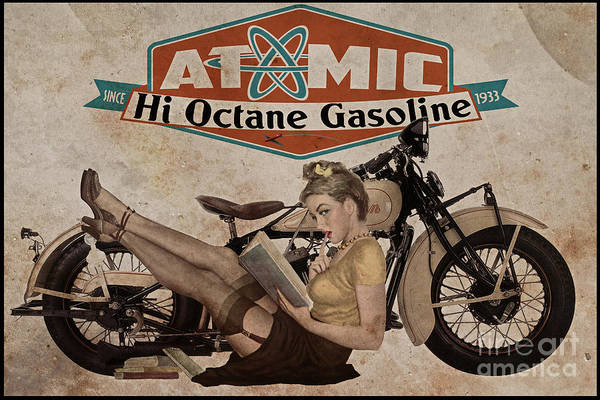 Ad Wall Art - Painting - Atomic Gasoline by Cinema Photography