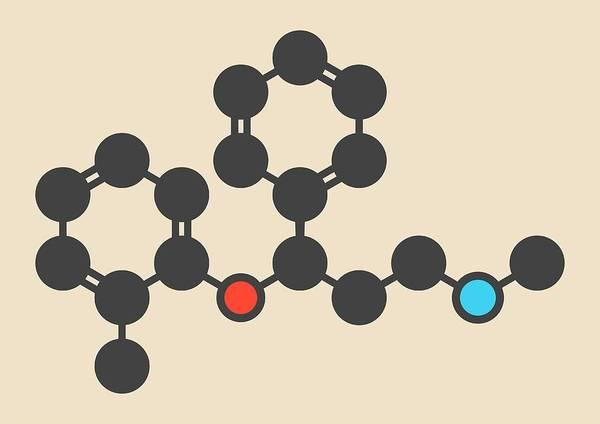 Psychiatry Photograph - Atomoxetine Adhd Drug Molecule by Molekuul