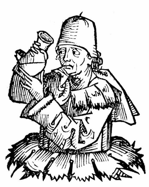 Woodcut Photograph - Atonius De Monte Ulmi by Universal History Archive/uig