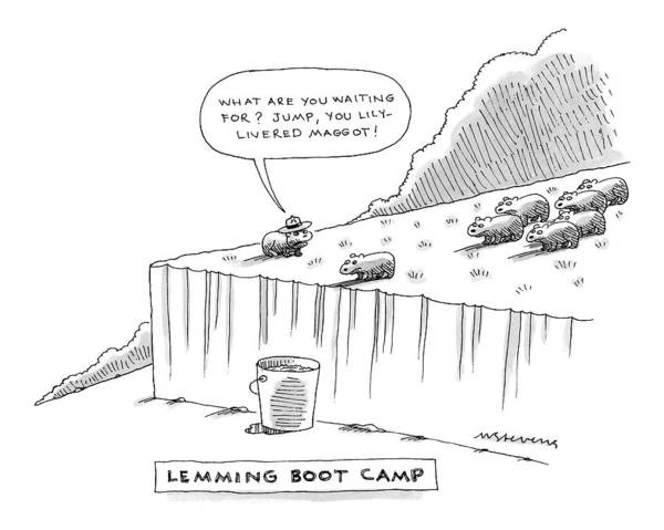 Boots Drawing - Atop A Short Cliff by Mick Stevens