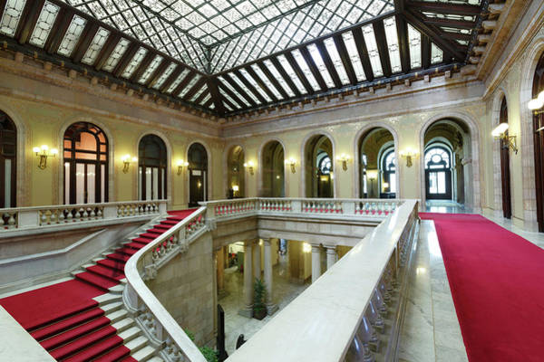 Atrium, Catalonia Parliament Building Art Print