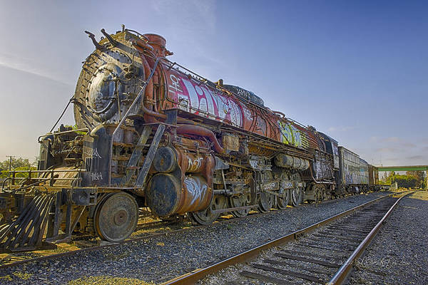 Photograph - Atsf 2 10 4 5021 by Jim Thompson