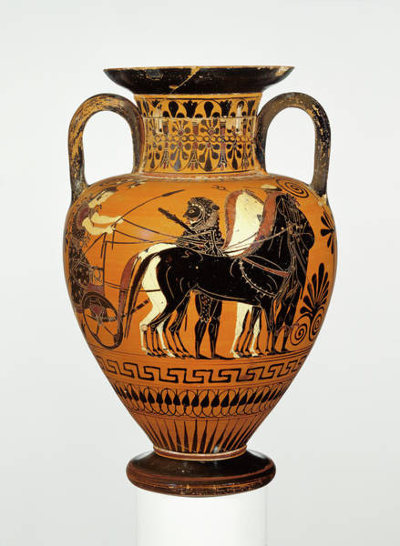Wall Art - Painting - Attic Black-figure Neck-amphora Attributed To Bareiss by Litz Collection