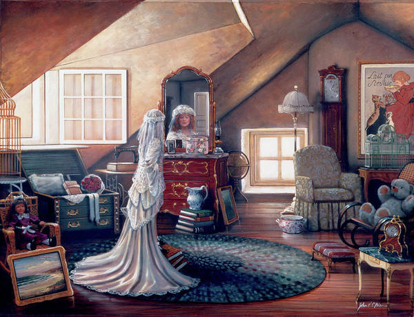 Wall Art - Painting - Attic Dreams by MGL Meiklejohn Graphics Licensing