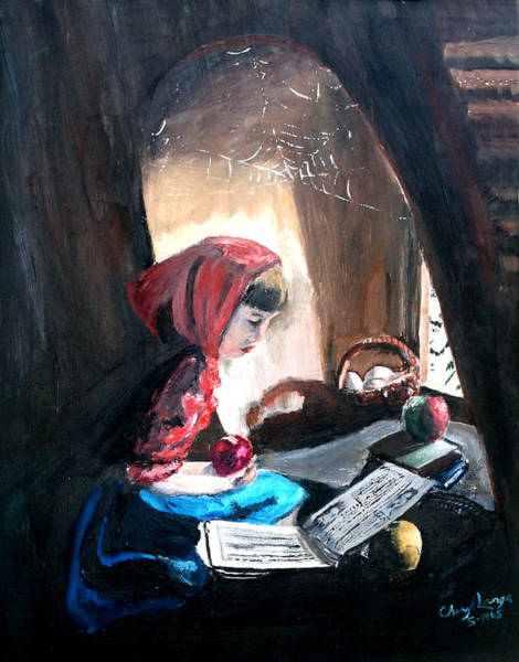 Painting - Attic Girl by Sherry Shipley