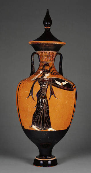 Wall Art - Painting - Attic Panathenaic Amphora With Lid Attributed by Litz Collection