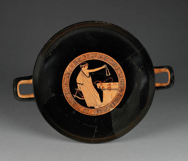 Wall Art - Painting - Attic Red-figure Cup Attributed To Brygos Painter by Litz Collection