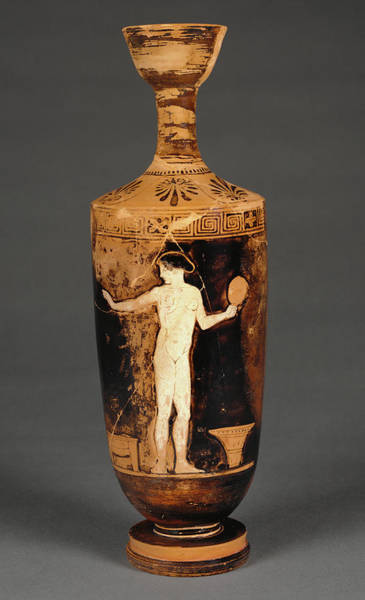 Wall Art - Painting - Attic Red-figure Lekythos Circle Of Phiale Painter by Litz Collection